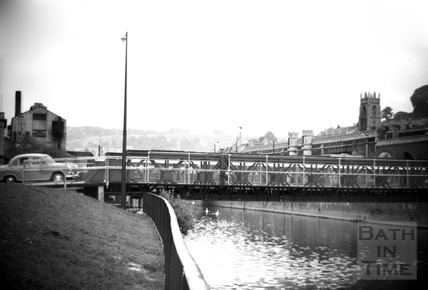 Temporary bridge over the Avon c.1964
