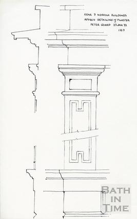 Norfolk Buildings, Bath 27 January 1972
