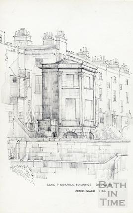 Norfolk Buildings, Bath 25 January 1972