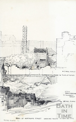 Northgate Street, Bath 21 September 1970