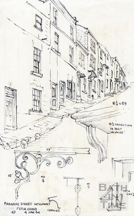 Paradise Street, Bath 4 January 1964