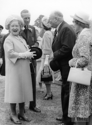 The Queen Mother during a visit to the Bath & West Show, June 14th 1976