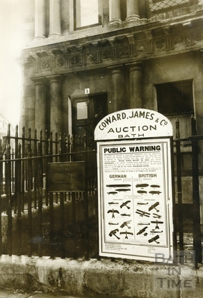 Wartime poster at the Circus, Bath, c.1915