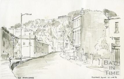 Pulteney Road, Bath 25 Jun 1972