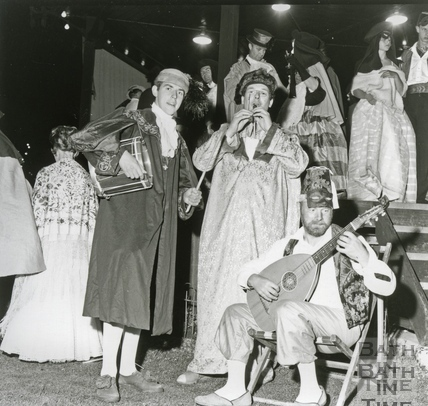 Guests masquerading as citizens of eighteenth century Venice, June 1962