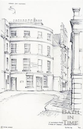 St Michael's Place, Westgate Street, Bath 29 December 1964