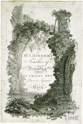 Trade Card for Mr J Hibbert, Chapel Row 1819