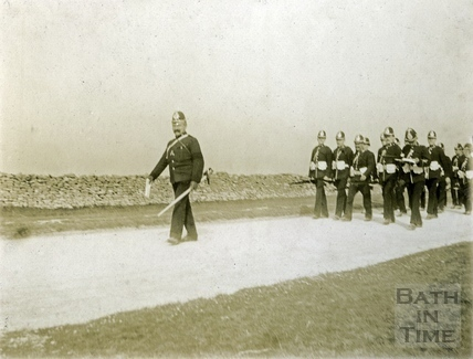 Inspection at Lansdown of the First Volunteer Battalion, Somerset Light Infantry May 1901