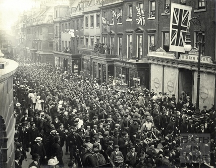 Return of the Active Service Section, Milsom Street, Bath, 4th May 1901