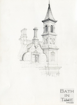 Sawclose, detail of the former Bluecoat School, Bath Date unknown