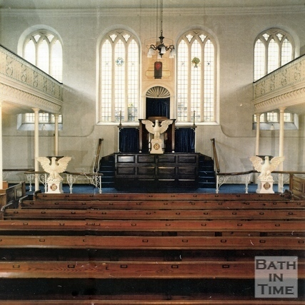 The interior of the United Reformed Church c.1990