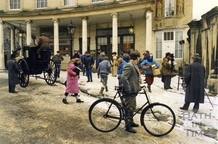 Filming in Bath Street January 1987