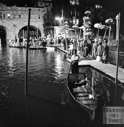 A specially constructed pontoon was built for performers and guests to La Serenissima in June 1962