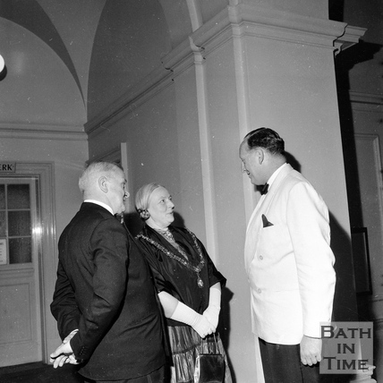Mayor Mrs. Guielma Maw with Ted Leather, chairman of the Festival Society June 1962