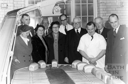 The opening of Bath Co-operative Society's new bakery extension in Melcombe Road c.1963