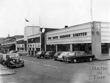 The Bath Garage, in James Street West. 1st November 1967