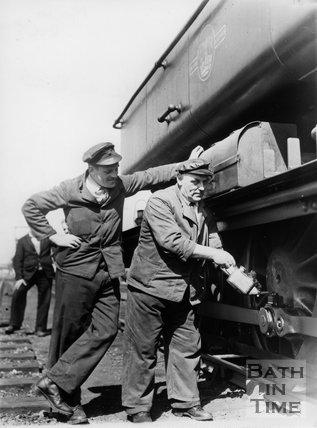 Railway driver Arthur Cannings and fireman John Watts 13th May 1961