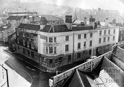 J.B. Bowler & Sons Ltd. On the corner of Corn Street and The Ambury April 1963