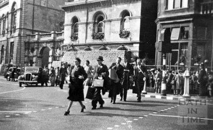Admiralty staff, evacuated from Whitehall to Bath, Orange Grove c.1940
