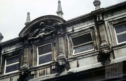 Pump Room, Bath, corner detail, May 1969