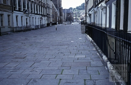 Duke Street, Bath pavement, July 1971