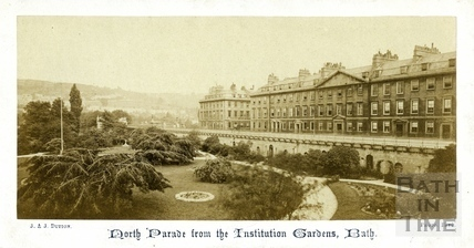 North Parade from the Institution Gardens, Bath c.1865