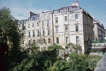 North Parade, Bath from Bridge, July 1971