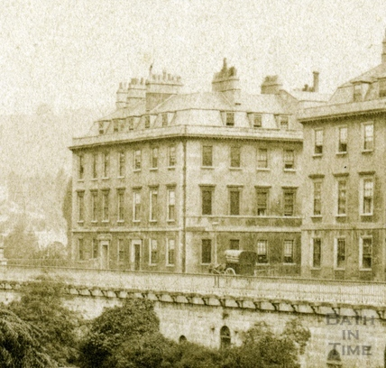 Corner of North Parade and Duke Street, Bath c.1865 - detail