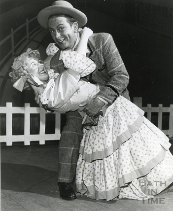 Annie and Ali strike a pose during rehearsals for Oklahoma in March 1963