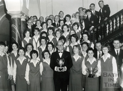 The Silver Ring Choir, led by conductor Kelvin Thomas, April 1966