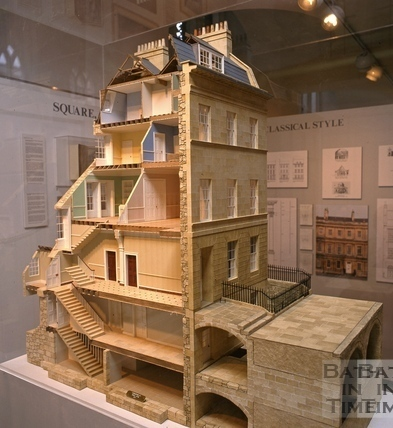 Cutaway model of a house in Great Pulteney Street