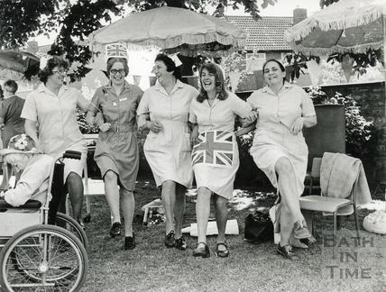 Nurses celebrate the Queens Silver Jubilee in June 1977