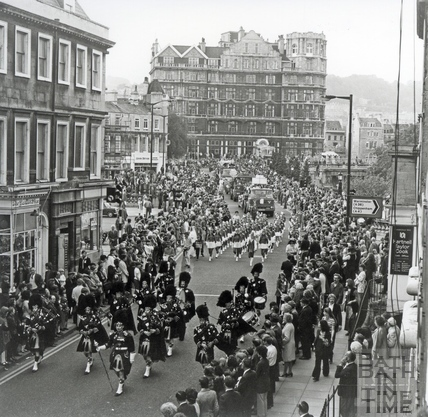 The carnival procession at the Bath Fiesta, June 1972