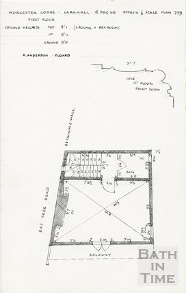Worcester Buildings / Place / Villas, Larkhall, Bath 15 December 1968