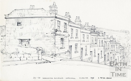 Worcester Buildings / Place / Villas, Larkhall, Bath 3 January 1969