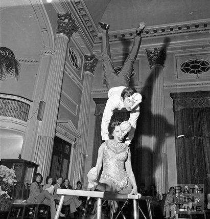 Acrobatics in the Pump Room June 1971