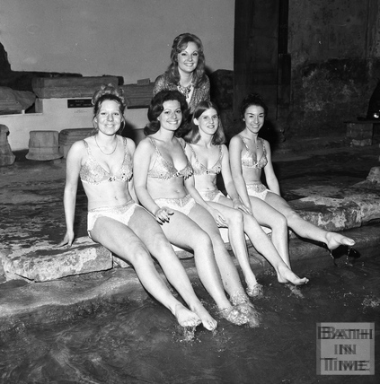 Roman Beauties at the Great Bath 31 May 1973