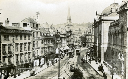 High Street and municipal buildings, Bath 1904
