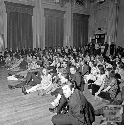 The audience watching the acrobats in the Pump Room June 1971