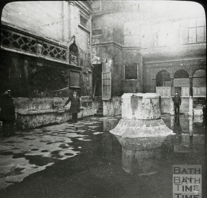 The Kings Bath, drained of water for cleaning c.1890