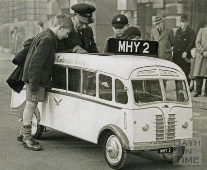 Westbury Coaches Continental Tours model bus c.1960