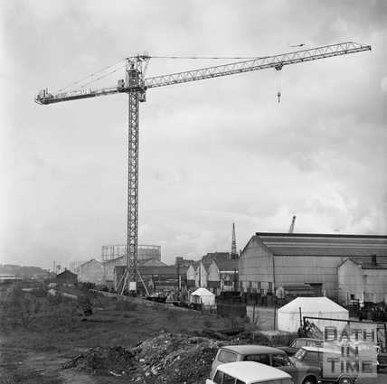 Cranes over Bath Nov 4th 1970