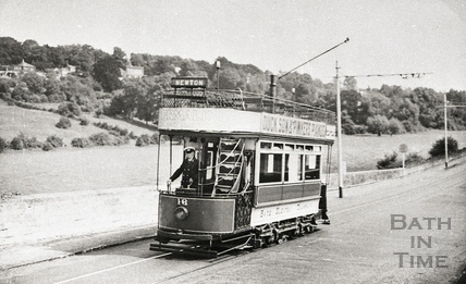 Tram no 16 on the way to the Globe, Newton St Loe c.1930s