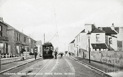 Tram no 8 at Cynthia Road, Oldfield Park c.1920s