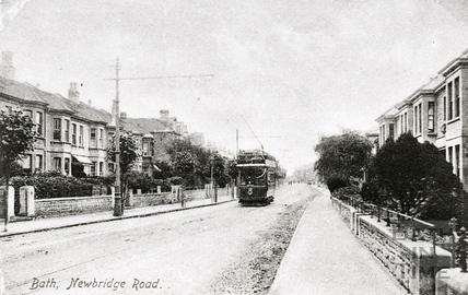 Tram on Newbridge Road c.1920s