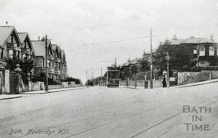 Tram at Newbridge Hill c.1920s