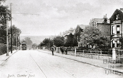 Tram at Combe Park c.1930s