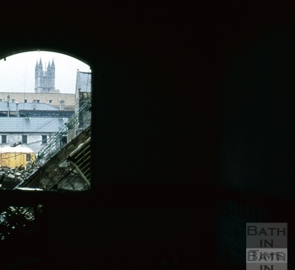 Southgate, North demolition through arch, Hooper & Dark 18 Oct 1971