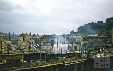 Southgate Street, Bath demolition, looking South east from C.U. window 18 Oct 1971