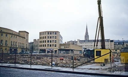 Southgate Street, Bath demolition, late Feb 1971